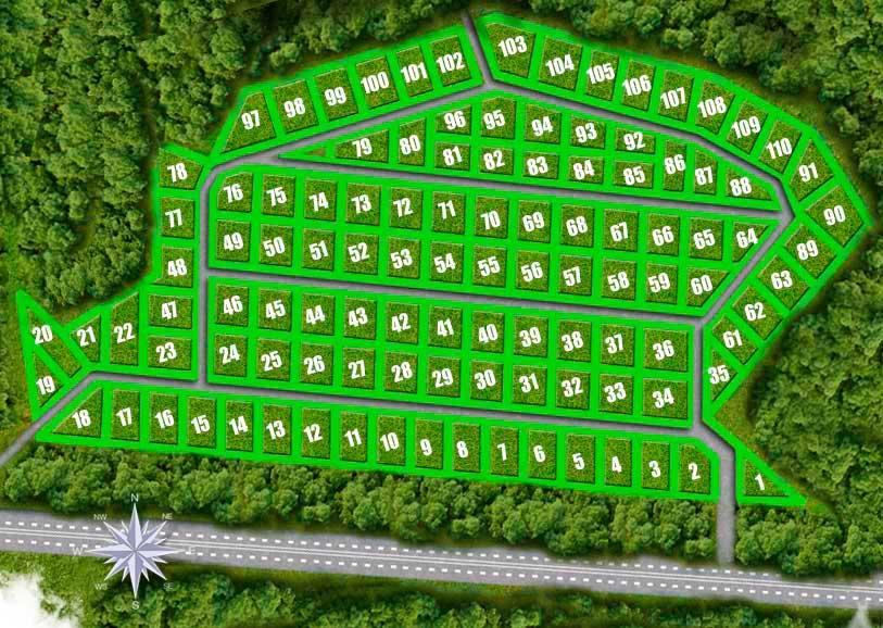 План поселка Можайский Ключ